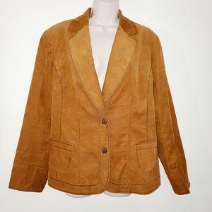 Coldwater Creek womans corduroy blazer